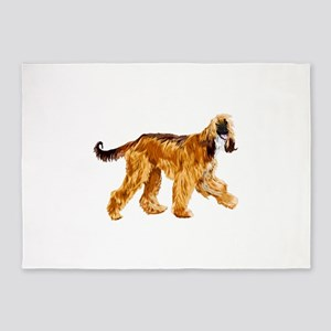 Brown afghan hound 5'x7'Area Rug
