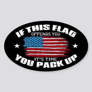 If this flag offends Sticker (Oval)