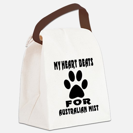 My Heart Beats For Australian Mis Canvas Lunch Bag