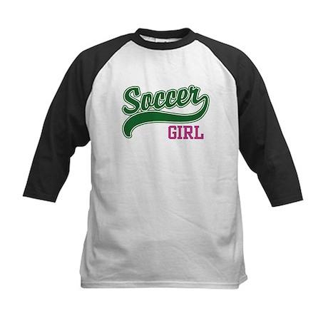 Soccer Girl Kids Baseball Jersey