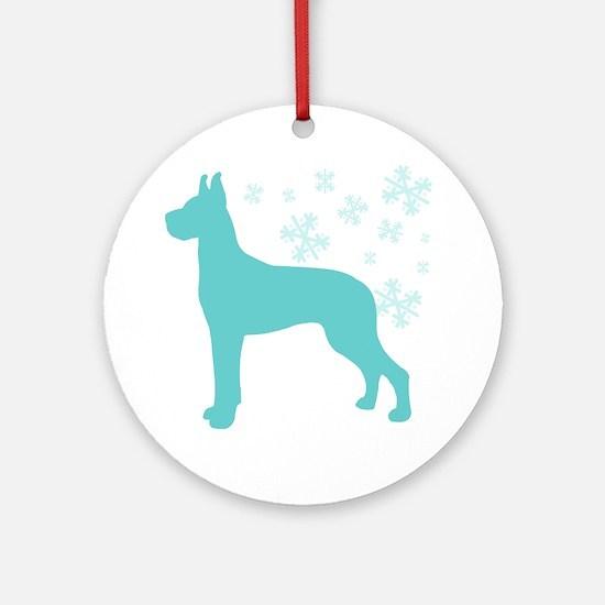 Great Dane Snowflake Ornament (Round)