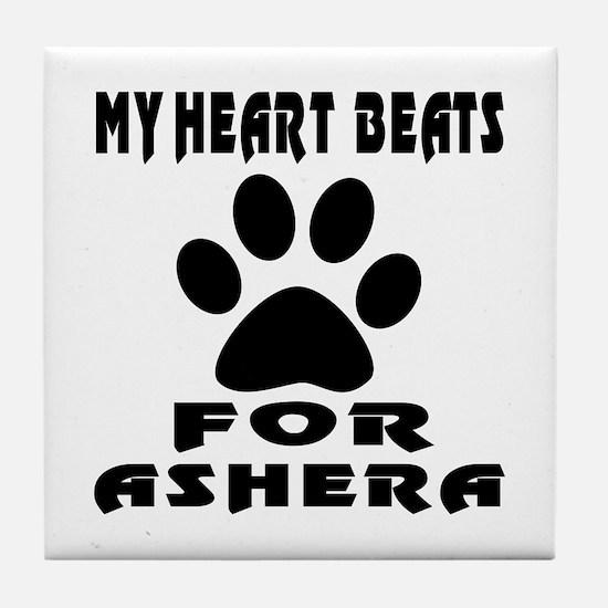 My Heart Beats For Ashera Cat Tile Coaster