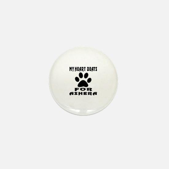 My Heart Beats For Ashera Cat Mini Button