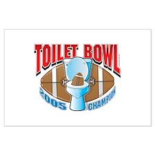 Fantasy Football Toilet Bowl Large Poster