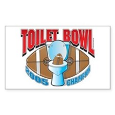 Fantasy Football Toilet Bowl Sticker (Rectangular