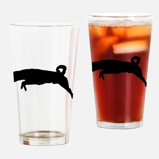 Finnish spitz dog silhouette Drinking Glass