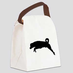 Finnish spitz dog silhouette Canvas Lunch Bag
