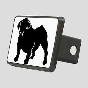 Bulldog silhouette Rectangular Hitch Cover