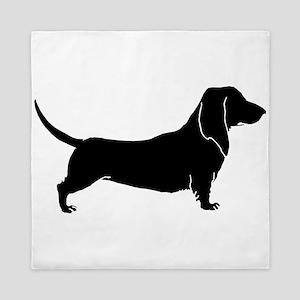 Bloodhound dog silhouette Queen Duvet