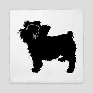Bouvier des flandres dog silhouette Queen Duvet
