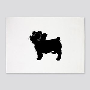 Bouvier des flandres dog silhouette 5'x7'Area Rug