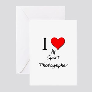 I Love My Sport Photographer Greeting Cards (Pk of