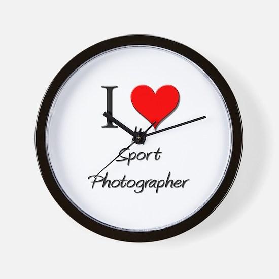 I Love My Sport Photographer Wall Clock