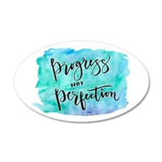 Progress not Perfection Wall Decal