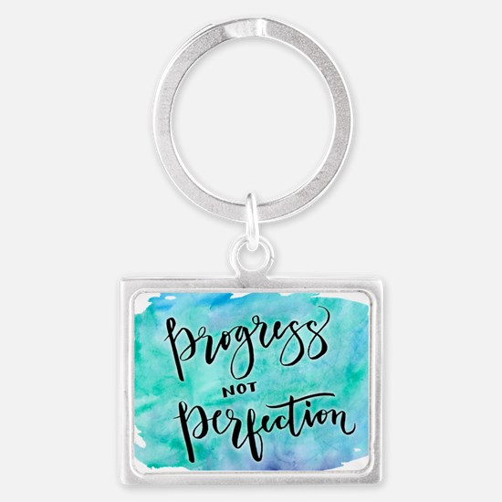 Progress not Perfection Keychains