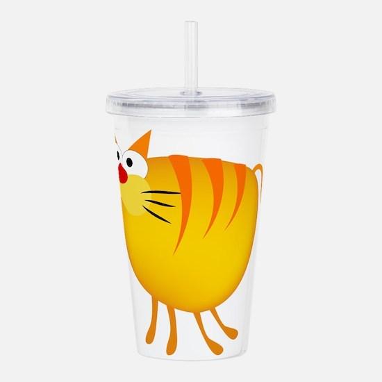 Fatty cat cartoon Acrylic Double-wall Tumbler