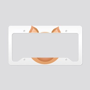 Pig face cartoon License Plate Holder