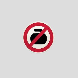 No curling Mini Button