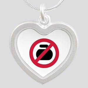 No curling Silver Heart Necklace