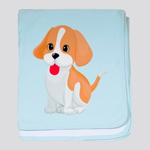 Cute dog cartoon baby blanket