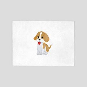 Cute dog cartoon 5'x7'Area Rug