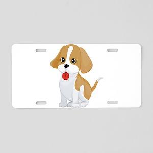 Cute dog cartoon Aluminum License Plate