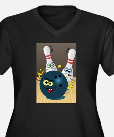 Hilarious Bowling Ball and Pins Plus Size T-Shirt