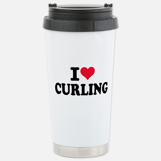 I love Curling Stainless Steel Travel Mug