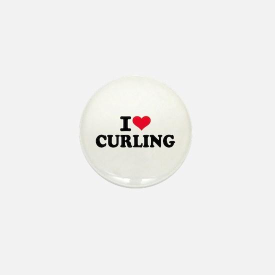 I love Curling Mini Button