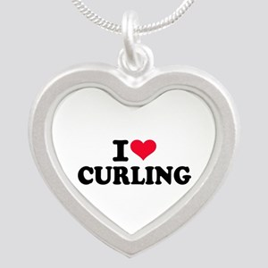 I love Curling Silver Heart Necklace