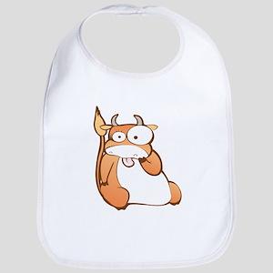 Funny Ox cartoon Bib