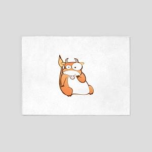 Funny Ox cartoon 5'x7'Area Rug