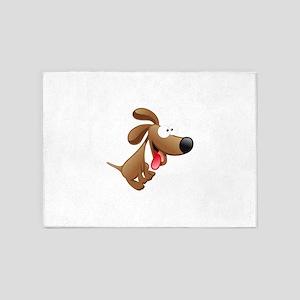Funny cartoon dog 5'x7'Area Rug