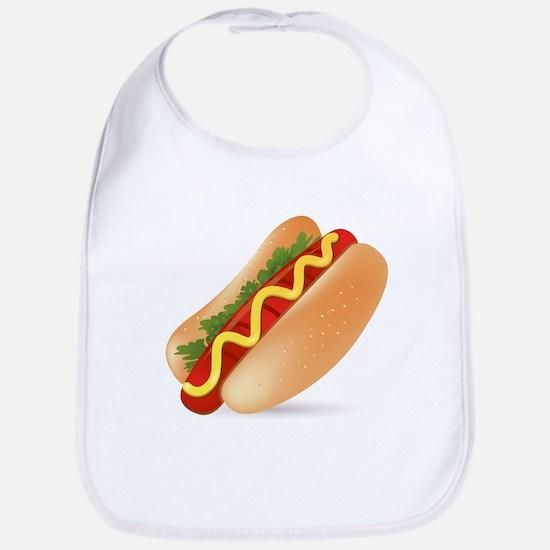 Hotdog Fast Food art Bib