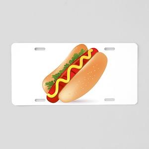 Hotdog Fast Food art Aluminum License Plate