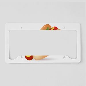Hotdog Fast Food art License Plate Holder