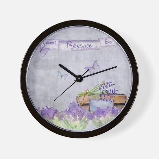 Summer-Provence - Love Wall Clock