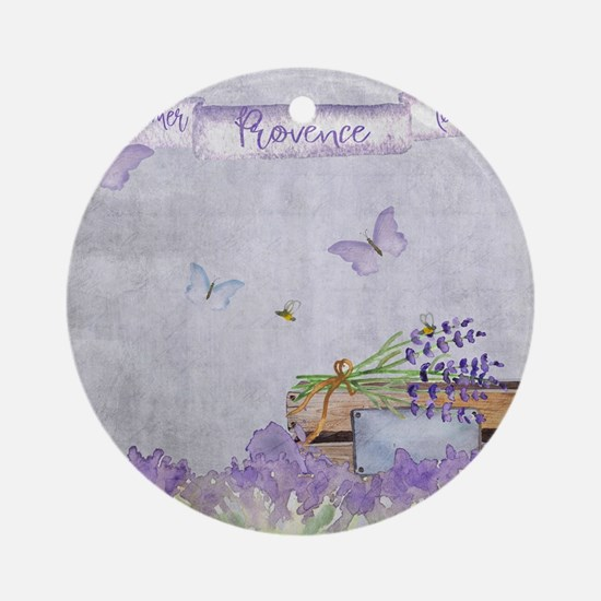 Summer-Provence - Love Round Ornament