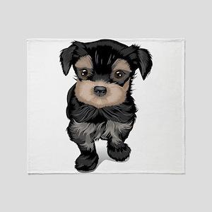 Cute Yorkipoo dog Throw Blanket