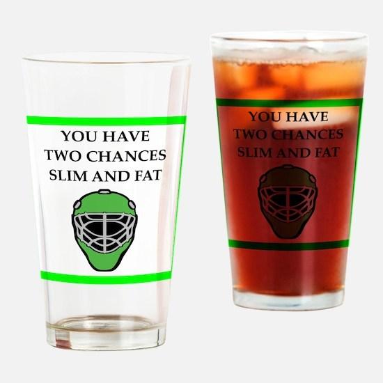 hockey joke Drinking Glass