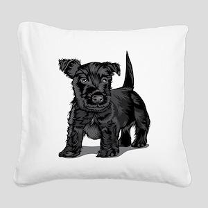 Cute Schnoodle dog Square Canvas Pillow