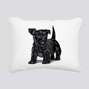 Cute Schnoodle dog Rectangular Canvas Pillow