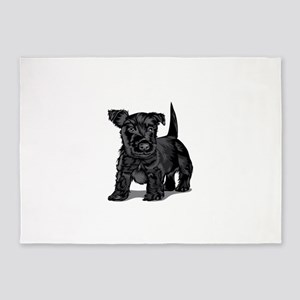 Cute Schnoodle dog 5'x7'Area Rug