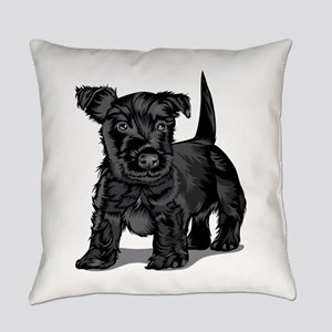 Cute Schnoodle dog Everyday Pillow