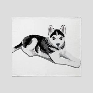 Cute Boston terrier Throw Blanket