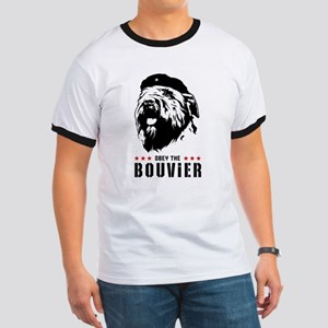 Obey the Bouvier! Mens' Ringer T