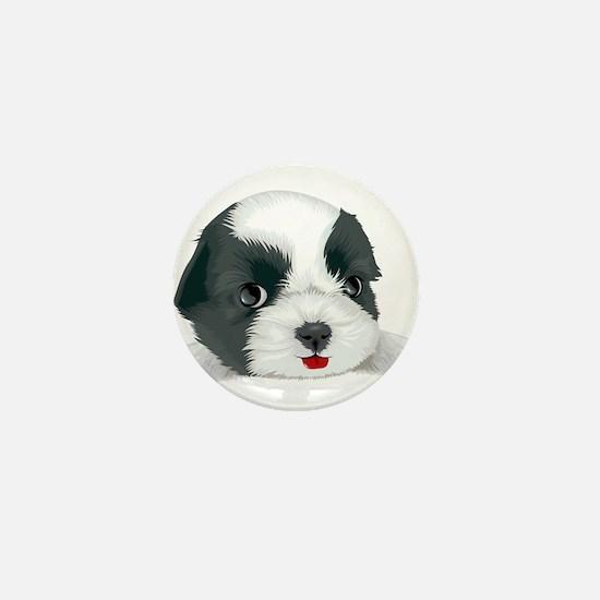 Bolognese dog Mini Button