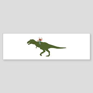 Dinosaur Cowboy Bumper Sticker