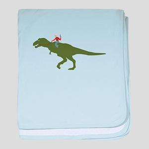 Dinosaur Cowboy baby blanket