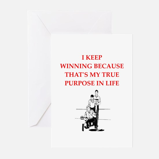 curling joke Greeting Cards